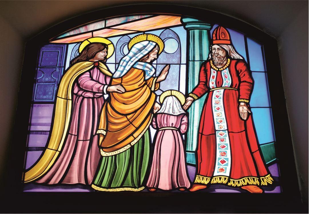 Vetrate Santuario Sant'Anna Caserta - Presentazione della Madonna al Tempio