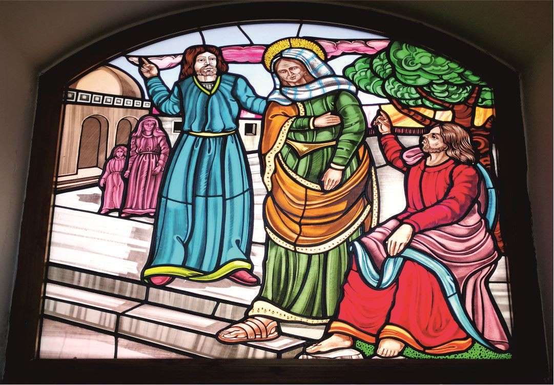 Vetrate Santuario Sant'Anna Caserta - Sant'Anna umiliata per la sua sterilità