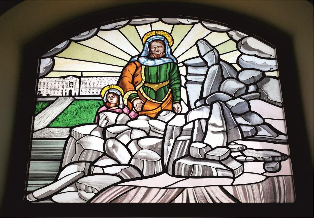 Vetrate Santuario Sant'Anna Caserta - Miracolo di S. Anna