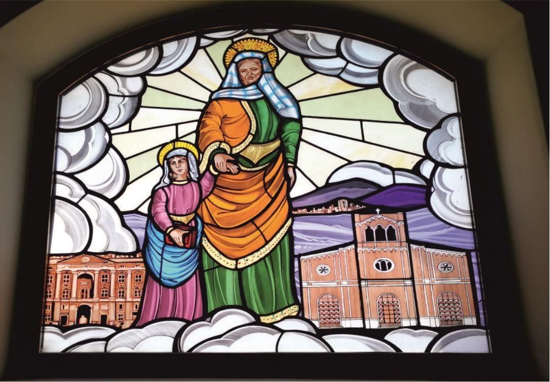 Vetrate Santuario Sant'Anna Caserta - Sant'Anna protettrice di Caserta