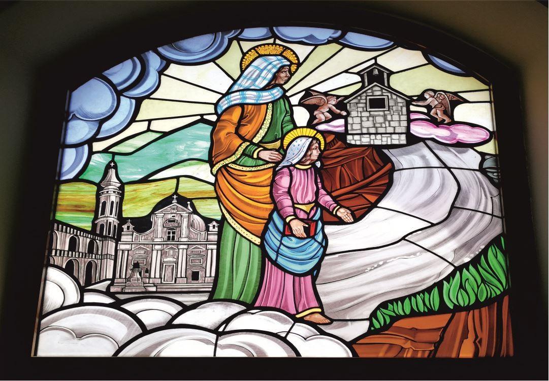 Vetrate Santuario Sant'Anna Caserta - Viaggio verso Nazaret [Loreto]