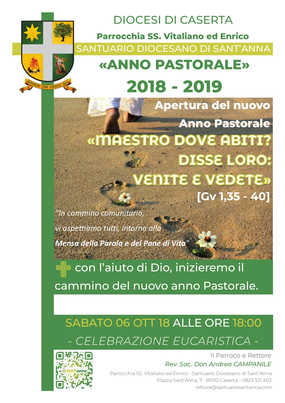 Parrocchia SS. Vitaliano ed Enrico -Locandina Cammino Anno Pastorale 2018 - 2019 - Santuario Sant'Anna Caserta